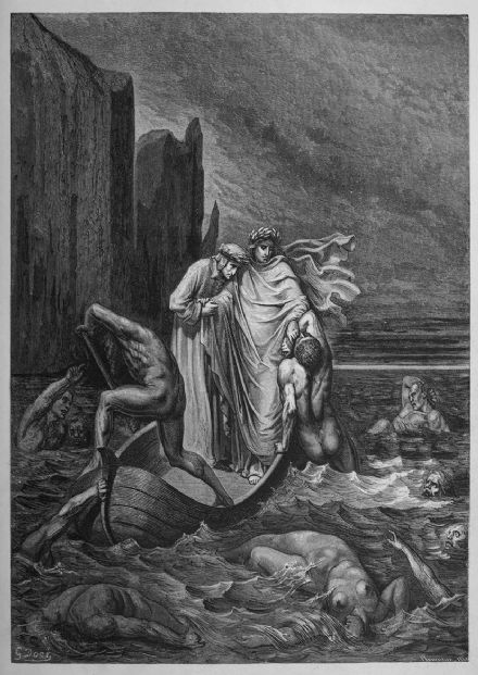 Dore, Gustave: Away! (Illustration from Dante's Inferno) Fine Art Print.  (3972)